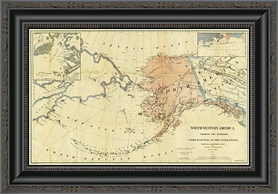 'Northwestern America Showing the Territory Ceded By Russia to the United States; 1867' Framed Print