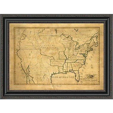East Urban Home 'United States; 1830' Framed Print; 20'' H x 26'' W x 1.5'' D