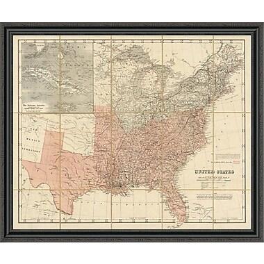 East Urban Home 'United States; 1861' Framed Print; 16'' H x 44'' W x 1.5'' D