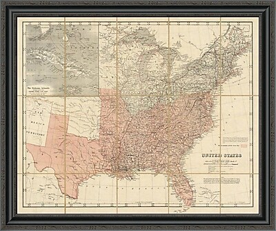 East Urban Home 'United States; 1861' Framed Print; 29'' H x 34'' W x 1.5'' D