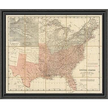 East Urban Home 'United States; 1861' Framed Print; 32'' H x 40'' W x 1.5'' D