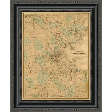 East Urban Home 'Map of Boston; 1860' Framed Print; 20'' H x 16'' W x 1.5'' D