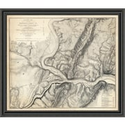 'Civil War Map of the Country Adjacent to Harper's Ferry; Virginia; 1863' Framed Print