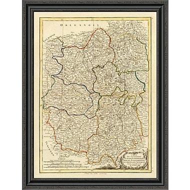 East Urban Home 'Berri; Nivernois; Marche; Bourbonnois; Limosin; Auvergne; 1786' Framed Print