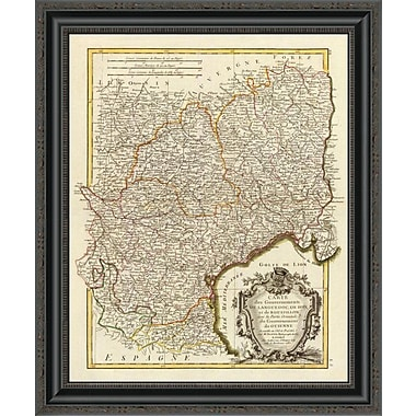 East Urban Home 'Languedoc; Foix; Roussillon; Guienne; 1787' Framed Print; 26'' H x 22'' W x 1.5'' D