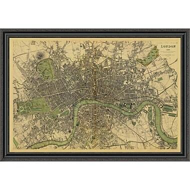 East Urban Home 'London; England; 1843 - Tea Stained' Framed Print; 36'' H x 44'' W x 1.5'' D