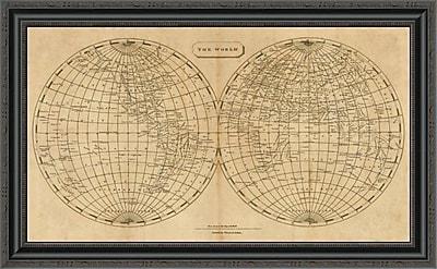 East Urban Home 'The World; 1812' Framed Print; 18'' H x 34'' W x 1.5'' D