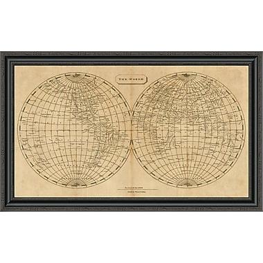 East Urban Home 'The World; 1812' Framed Print; 23'' H x 40'' W x 1.5'' D