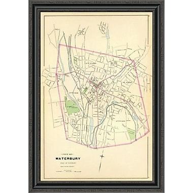 East Urban Home 'Waterbury; Connecticut; 1893' Framed Print; 23'' H x 24'' W x 1.5'' D