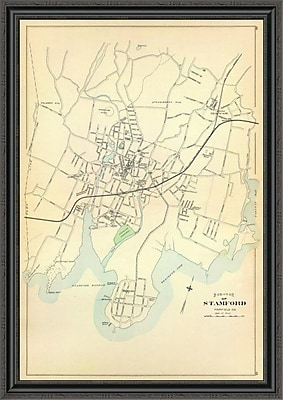 East Urban Home 'Stamford; Connecticut; 1893' Framed Print; 30'' H x 31'' W x 1.5'' D