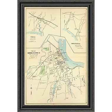 East Urban Home 'Middletown; Connecticut; 1893' Framed Print; 26'' H x 23'' W x 1.5'' D