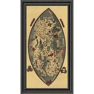East Urban Home 'Genoese World Map' Framed Print; 24'' H x 19'' W x 1.5'' D