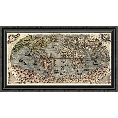 East Urban Home 'Universal Description of the Whole World' Framed Print; 17'' H x 34'' W x 1.5'' D