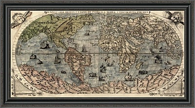 East Urban Home 'Universal Description of the Whole World' Framed Print; 22'' H x 40'' W x 1.5'' D