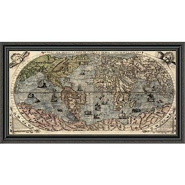 East Urban Home 'Universal Description of the Whole World' Framed Print; 28'' H x 44'' W x 1.5'' D