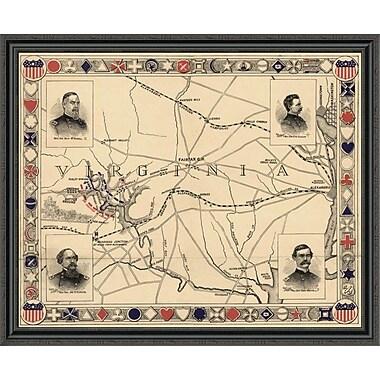 East Urban Home 'First Battle of Bull Run - Manassas' Framed Print; 40'' H x 44'' W x 1.5'' D