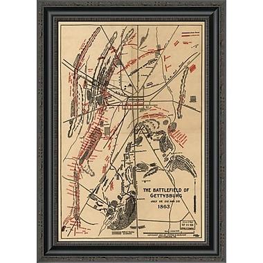 East Urban Home 'Battle of Gettysburg #1' Framed Print; 15'' H x 19'' W x 1.5'' D