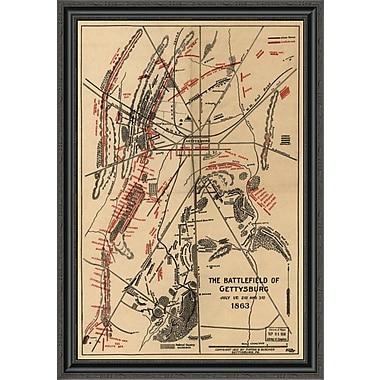 East Urban Home 'Battle of Gettysburg #1' Framed Print; 22'' H x 28'' W x 1.5'' D