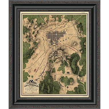 East Urban Home 'Battle of Gettysburg #2' Framed Print; 15'' H x 17'' W x 1.5'' D