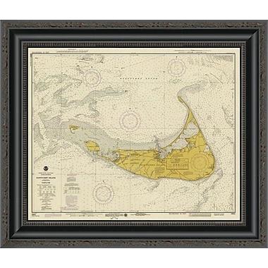 East Urban Home 'Nautical Chart - Nantucket Island CA. 1975 - Sepia Tinted' Framed Print
