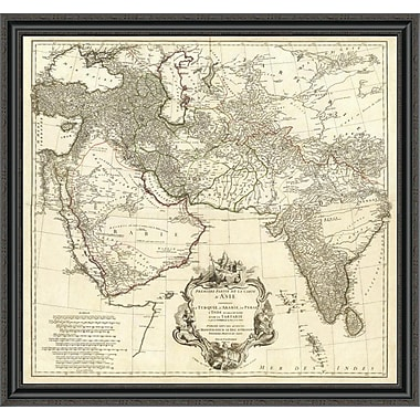 East Urban Home 'Asia I; 1751' Framed Print; 31'' H x 40'' W x 1.5'' D