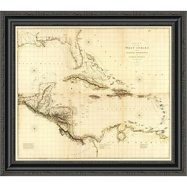 East Urban Home 'Composite: West Indies; 1810' Framed Print; 20'' H x 26'' W x 1.5'' D