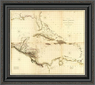 East Urban Home 'Composite: West Indies; 1810' Framed Print; 34'' H x 20'' W x 1.5'' D