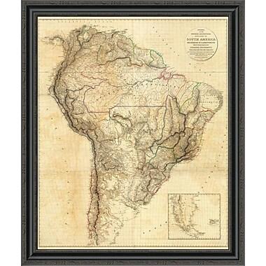 East Urban Home 'South America; 1814' Framed Print; 18'' H x 29'' W x 1.5'' D
