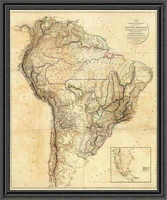 East Urban Home 'South America; 1814' Framed Print; 30'' H x 37'' W x 1.5'' D