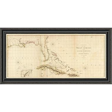 East Urban Home 'West Indies I; 1810' Framed Print; 20'' H x 40'' W x 1.5'' D