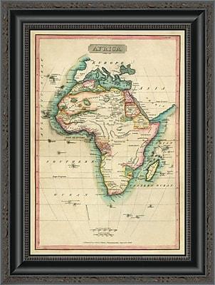 East Urban Home 'Africa; 1820' Framed Print; 16'' H x 15'' W x 1.5'' D