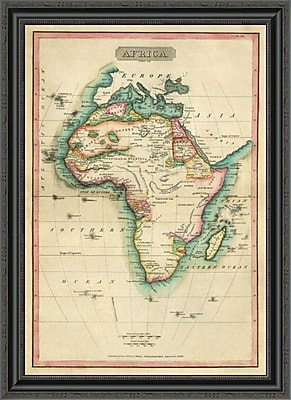 East Urban Home 'Africa; 1820' Framed Print; 27'' H x 25'' W x 1.5'' D