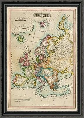 East Urban Home 'Europe; 1820' Framed Print; 26'' H x 24'' W x 1.5'' D
