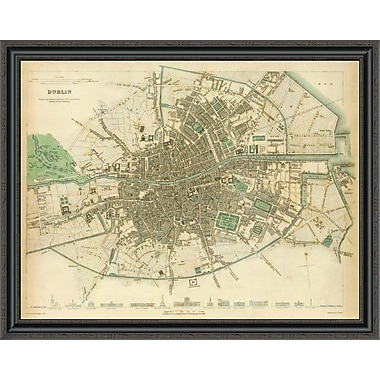 East Urban Home 'Dublin; Ireland; 1836' Framed Print; 33'' H x 40'' W x 1.5'' D