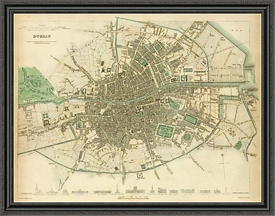 East Urban Home 'Dublin; Ireland; 1836' Framed Print; 37'' H x 44'' W x 1.5'' D