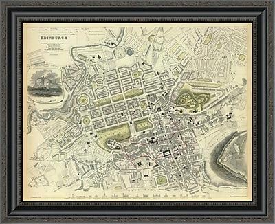 East Urban Home 'Edinburgh; Scotland; 1834' Framed Print; 22'' H x 26'' W x 1.5'' D