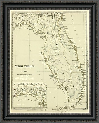 East Urban Home 'Florida; 1834' Framed Print; 21'' H x 21'' W x 1.5'' D