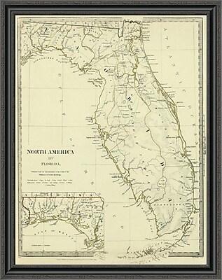 East Urban Home 'Florida; 1834' Framed Print; 32'' H x 32'' W x 1.5'' D