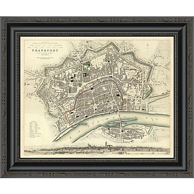 East Urban Home 'Frankfurt; Germany; 1837' Framed Print; 17'' H x 20'' W x 1.5'' D