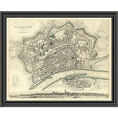 East Urban Home 'Frankfurt; Germany; 1837' Framed Print; 34'' H x 40'' W x 1.5'' D