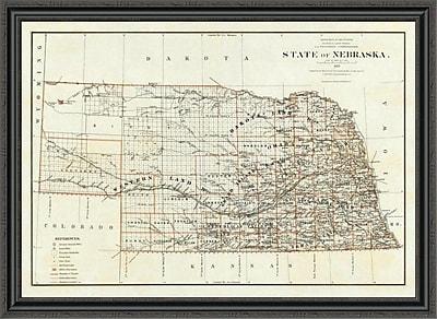 East Urban Home 'State of Nebraska; 1879' Framed Print; 27'' H x 44'' W x 1.5'' D