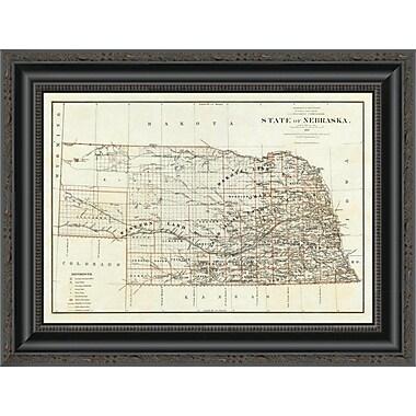 East Urban Home 'State of Nebraska; 1879' Framed Print; 36'' H x 20'' W x 1.5'' D