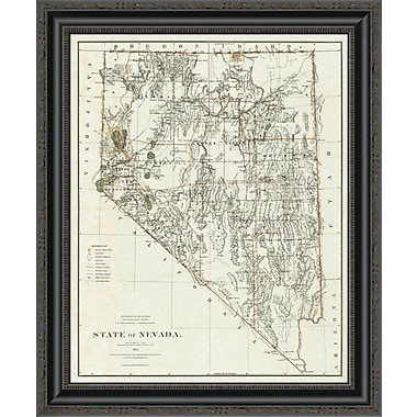East Urban Home 'State of Nevada; 1879' Framed Print; 20'' H x 22'' W x 1.5'' D