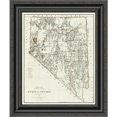 East Urban Home 'State of Nevada; 1879' Framed Print; 29'' H x 17'' W x 1.5'' D