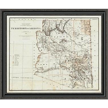 East Urban Home 'Territory of Arizona; 1879' Framed Print; 25'' H x 34'' W x 1.5'' D