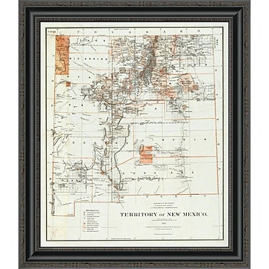 East Urban Home 'Territory of New Mexico; 1879' Framed Print; 17'' H x 22'' W x 1.5'' D