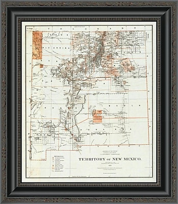 East Urban Home 'Territory of New Mexico; 1879' Framed Print; 44'' H x 17'' W x 1.5'' D