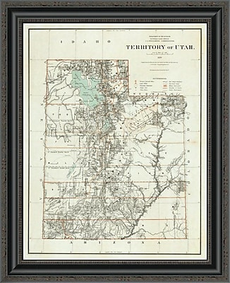 East Urban Home 'Territory of Utah; 1879' Framed Print; 17'' H x 21'' W x 1.5'' D