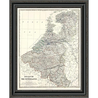 East Urban Home 'Belgium; Netherlands; 1861' Framed Print; 21'' H x 21'' W x 1.5'' D