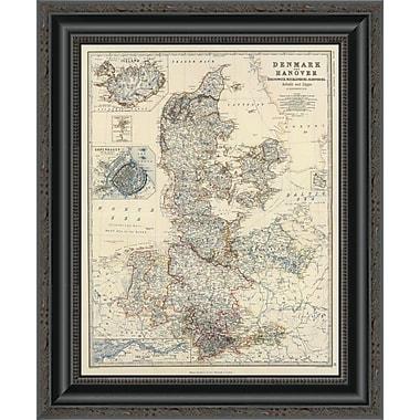 East Urban Home 'Denmark; Hanover; Brunswick; Mecklenburg; Oldenburg; 1861' Framed Print